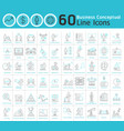 set business conceptual thin line icons vector image vector image