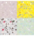 set of 4 Seamless pattern of triangles vector image vector image