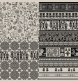 set of backgrounds with peruvian patterns vector image vector image