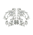 Silver floral ornament isolated vector image