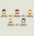 social distance rules for children vector image vector image