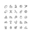 sport sign thin line icon set vector image
