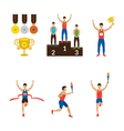 Sports Athletes Winner Torch Runner Champion vector image vector image