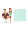 sports man and a young girl presentation in vector image vector image