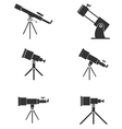 Telescopes vector image vector image