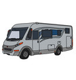 the silver large motor home vector image vector image
