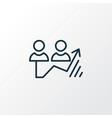 traffic growth icon line symbol premium quality vector image vector image
