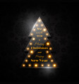 transparent glass christmas tree with glowing vector image vector image