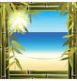 View of the seashore from the resort hotel window vector image vector image