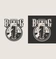 vintage brewing monochrome round print vector image