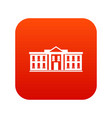 white house usa icon digital red vector image