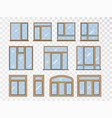 window set different types collection classic vector image