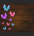 wooden planks with beautiful multicolored vector image vector image