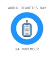 World Diabetes Day Glucometer test strip Flat vector image vector image
