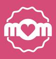 colorful mom emblem design elements for vector image