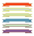 A set of vintage ribbons vector image vector image