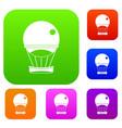 aerostat balloon set color collection vector image vector image