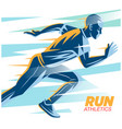 art concept a running man vector image