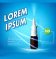 background with a nasal spray template vector image vector image