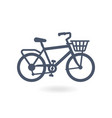 bicycle bike icon trendy flat style vector image