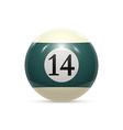 billiard fourteen ball isolated on a white