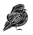 Bird Mandarin Duck vector image vector image