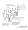 black our team outline design template vector image vector image