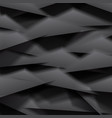 black polygonal background vector image vector image