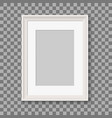blank picture frame for photographs vector image vector image