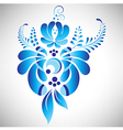 Blue floral element in Russian gzhel style vector image vector image
