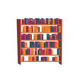 bookcase flat icon vector image vector image
