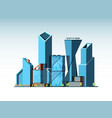 business cityscape landscape urban background vector image vector image