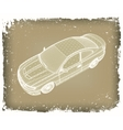 Car is designed vector image