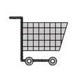 cart shopping empty supermarket instrument object vector image