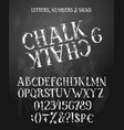 chalk english alphabet vector image