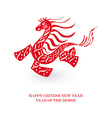 Chinese New Year of the Horse isolated card vector image vector image