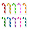 christmas candy cane set vector image vector image
