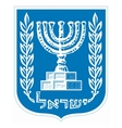 coat of arms of Israel vector image vector image