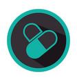 color circular emblem with pills vector image
