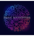 Colorful email marketing vector image vector image