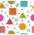 colorful seamless pattern with geometric shapes vector image vector image