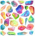 Colorful watercolor gem vector image vector image