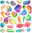 Colorful watercolor gem vector image