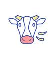 cow rgb color icon vector image
