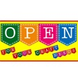 Craft Shop Open Sign vector image vector image