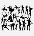 dance competition silhouette vector image vector image