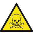 danger of death safety sign vector image vector image