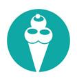 delicious ice cream cone vector image vector image