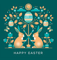 easter greeting card in unusual style vector image vector image