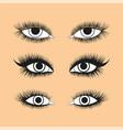 female eye set 1 vector image